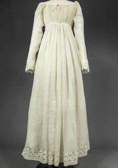 """""""Robe De Jour En Mousseline Ajourée à La Mameluck - Premier Empire France"""" Circa 1805/1815"""