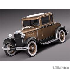 HotRod Model A Coupe 1928-1931 - 3D Model