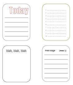 Journaling Cards | Scrapbook Printables