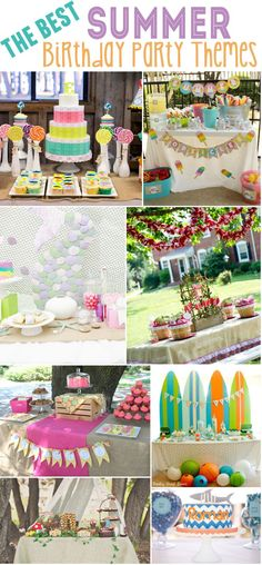 15 Best Summer Birthday Party Themes Party Themes Summer for Summer Birthday Party Ideas - Best Birthday Party Ideas Summer Birthday, Birthday Party Decorations, First Birthday Parties, First Birthdays, Birthday Ideas, Summer Party Themes, Party Ideas, Summer Parties, Theme Ideas