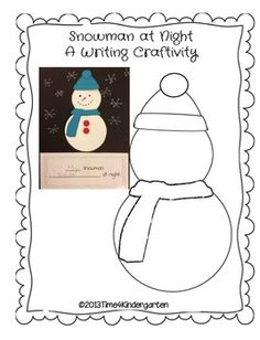 Snowman at Night Writing Craftivity