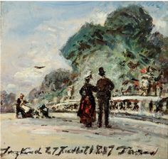 Johan Bartold Jongking (1819-1891)  Le jardin du Luxembourg: la promenade, Paris. Painted in 1887