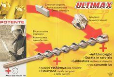 Punte SDS max a 6 taglienti. Punte ULTIMAX by Diager  #edilizia #utensili