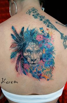 tattoo by Kerem Güner Watercolor Tattoo, Piercing, Tattoos, Tatuajes, Piercings, Tattoo, Temp Tattoo, Body Piercings, Tattos