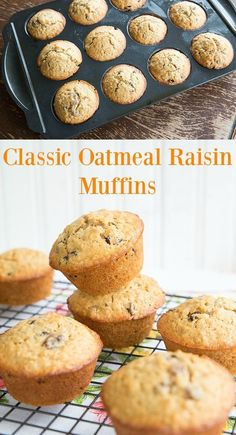 Fast, simple and delicious oatmeal raisin muffins. Sometimes the simplest flavours are still the best and these are a family favourite. Oatmeal Raisin Muffins, Oatmeal Cupcakes, Oatmeal Muffins, Oatmeal Cookies, Healthy Food Choices, Good Healthy Recipes, Healthy Foods To Eat, Healthy Eating, Healthy Breakfasts