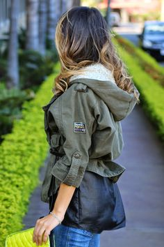 SuperDry jacket via House of Fraser #ootd #spring #outfit #fashion #houseoffraser More outfit details on my blog: http://www.whitneyswonderland.com/2015/03/new-hair.html#more