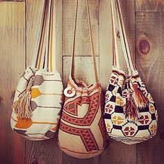Women from the Wayuu communities show the world their enormous cultural wealth through a mix of traditional handcrafted Mochilas. 22% off! www.susustyle.com