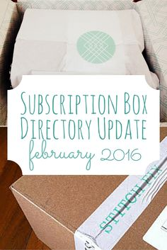 It's shocking how many new subscription boxes are out there! Come check out what boxes were added over the past month. There are a couple for book lovers!