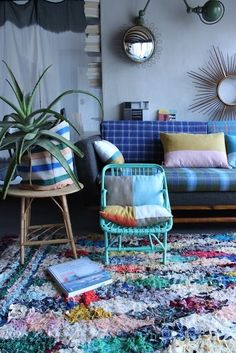 Eclectic Collector Style: Colorful Textiles & Rugs from Around the World