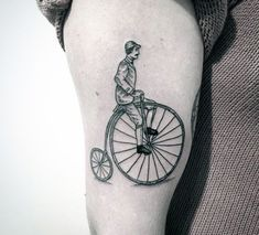 Penny Farthing Bicycle Tattoo On Arms For Men  bicycletattoo Cycling Jerseys 8895ef001