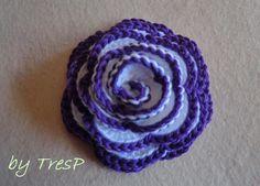 TresP craft blog: ROSA DE CROCHET TUTORIAL