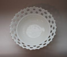 Glass Milk Lace Bowl  by City Market    Love my glass milk collection, would love to add this one to my collection