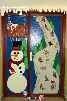 Winter School Door / Decoración de la puerta de clase tema Invierno