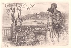 #vintage #e bay #James #David  #Smillie #The  #Sun #Dial  #Etching #Realism #American #print #revival