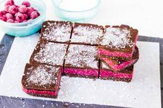 Raw Chocolate Raspberry Slice {Dairy Free, Egg Free, Gluten Free, Raw, Vegan}