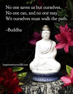 """""""No one saves us but ourselves. No one can and no one may. We ourselves must walk the path."""" - Buddha"""
