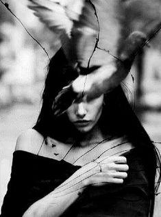 Dark Beauty, Double Exposure, Dark Art, Fairy Tales, Gothic, Witch, Fantasy, Darkness, Classic