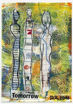 "Dagmar Reymer Mail Art ""mir ist so Dada im Kopf"""