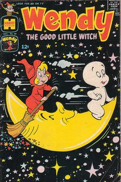 Casper the Ghost and his friend Wendy, the good little witch