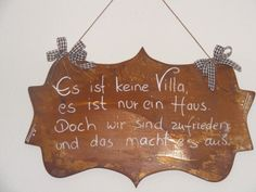 Rost Schild / Haus Spruchtafel Beautiful shield with a beautiful saying and ornament. These signs are not everywhere, a real eye-catcher ! Dimensions ca height 30 cm and width about 50 cm … Christmas Tree Decorations, Flower Decorations, Christmas Ornaments, Holiday Decor, Funny Home Decor, Framed Quotes, Garden Quotes, Flower Wall Decor, Garden Signs