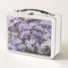 Purple Rhododendron Blossoms Floral Metal Lunch Box - kitchen gifts diy ideas decor special unique individual customized