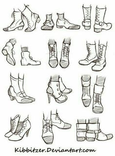 Shoes, text; How to Draw Manga/Anime