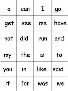 Home Grown Hearts Academy Homeschool Blog: printable sight words