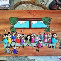 Stone Art Painting, Pebble Painting, Pebble Art, Pebble Stone, Nursery Activities, Craft Activities For Kids, Crafts For Kids, Diy And Crafts, Arts And Crafts