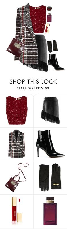 """""""Glittering in red"""" by heba-j ❤ liked on Polyvore featuring Haider Ackermann, Gianvito Rossi, Moschino, Dolce&Gabbana and Rituel de Fille"""