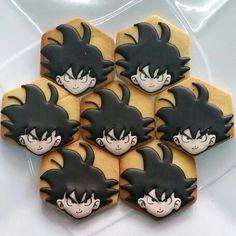 Goku dragonball sugar cookies - Visit now for 3D Dragon Ball Z compression shirts now on sale! #dragonball #dbz #dragonballsuper Man Cookies, Cut Out Cookies, Iced Cookies, Cute Cookies, Royal Icing Cookies, Sugar Cookies, Goku Birthday, 14th Birthday, Dragon Z