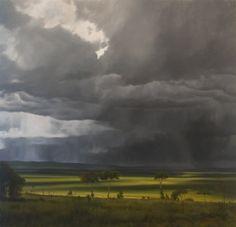 the rains via:scout designs - artist april gornik Contemporary Landscape, Abstract Landscape, Landscape Paintings, Sky Painting, Sky And Clouds, Nocturne, Photos, Pictures, Photographs