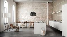 The perfect studio width. Designline Küche - Projekte: Berliner Schwebe | designlines.de