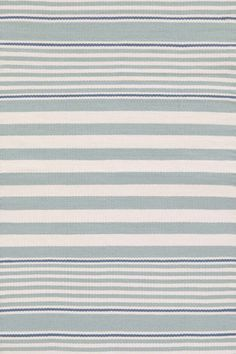 Beckham Stripe Light Blue Indoor/Outdoor Rug | Dash & Albert Rug Company
