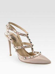 I know they have been around awhile - still love them! Valentino Patent Leather Rockstud Slingback Pumps
