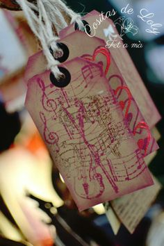 Tarjetas vintage personalizadas handmade / hechas a mano / DIY
