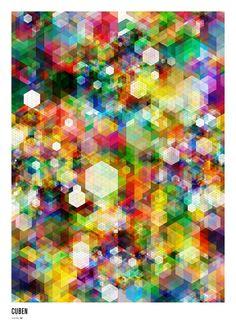 CUBEN - Digital Grid v3 White by Simon C Page