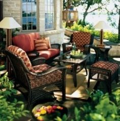 Patio Area Bar Chairs for Comfortable Outdoor and Poolside Seating – Outdoor Patio Decor Outdoor Living Furniture, Outdoor Garden Furniture, Patio Furniture Sets, Outdoor Rooms, Outdoor Decor, Wicker Furniture, Outdoor Seating, Steel Furniture, Furniture Covers