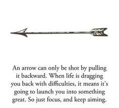 The reason for my arrow tattoo(: