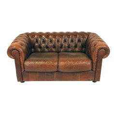 Derby Leather Chesterfield Settee. Ideas