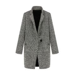 Monochrome Coat ($328) ❤ liked on Polyvore featuring outerwear, coats, jackets, coats & jackets, tops, lapel coat, print coat, wool coat, woolen coat и black and white wool coat