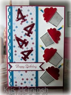 such cute ideas for DIY cards / great for any age, One Cupcake at a time