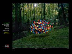 """Thomas Jackson (1980) met het werk Cloud of everyday objects. Jackson is fotograaf. De """"wolken"""" in zijn werk zijn hetzij gebruiksvoorwerpen in de natuur, hetzij natuurlijke materialen (bladeren of takken) in een stedelijke omgeving. Hij heeft een ambivalente houding t.o.v. het gebruik van Photoshop en heeft daarvoor zijn eigen regels opgesteld. Ik vind de verbazing die zijn foto's oproepen en de behoefte beter te kijken en te onderzoeken erg interessant."""