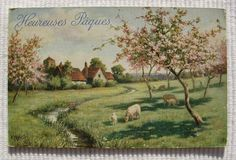 Unused French Easter Postcard by ChicEtChoc on Etsy, $4.50