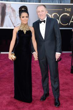 alfombra roja de los Oscars 2013: Salma Hayek de Alexander McQueen