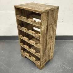 Reclaimed Wood Wine Rack Wood Wine Rack Rustic Wine von CaisleyCo