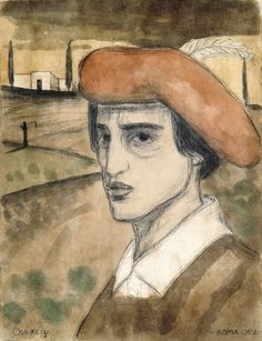 Self-portrait Lajos Gulacsy