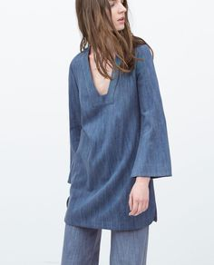 Flared Sleeves are Back For Spring 2015: 17 Pieces to Buy - Bell Sleeve Tunic, $79.90; at Zara