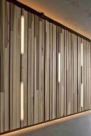 Resultado de imagen para lineal lighting on woodwall