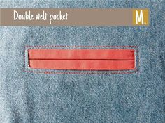 A tutorial for adding a double welt pocket to a garment. #sewingtutorials #compagniem #ninaskirt