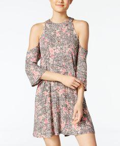 Be Bop Juniors' Heathered Cold Shoulder Dress